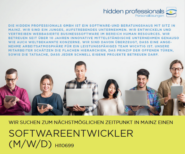 Softwareentwickler Header